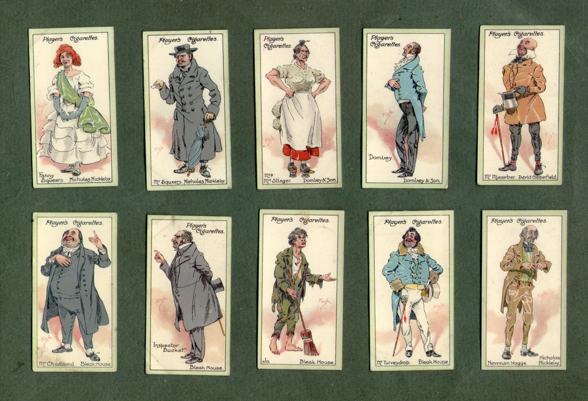 collectable cigarette cards characters from dickens oliver twist  collectable cigarette cards characters from dickens oliver twist scrooge